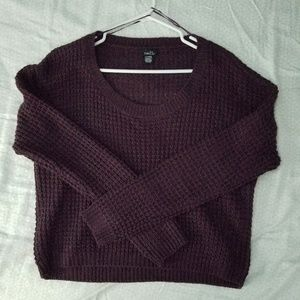 Plum crop sweater